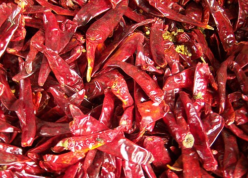 gedroogde chilipepers