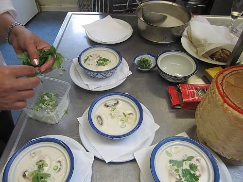 Thaise soep Tom Kha Gai