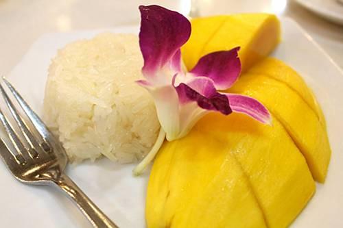 kokos-limoenrijst met mango